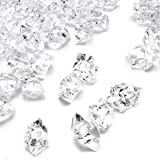 DomeStar Fake Crystals, 150PCS(2.5Cups) Acrylic Gems Clear Ice Rocks Plastic Diamonds Vase Rocks Centerpiece for Vase Fillers