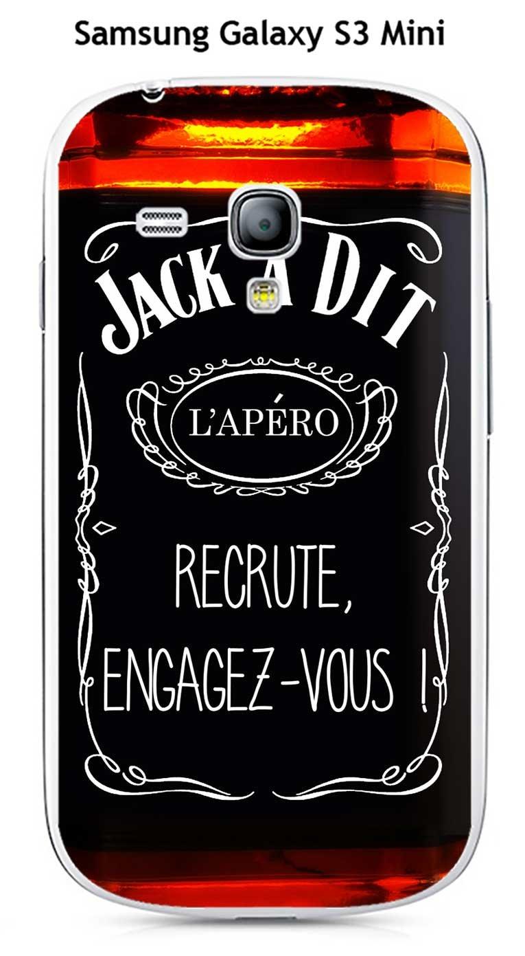 Carcasa Samsung Galaxy S3 MINI Design Jack a dit La Apéro ...