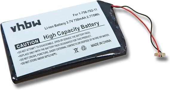 vhbw batería 750mAh para Sony Walkman NWZ-820, NWZ-A726, NWZ-A728 ...
