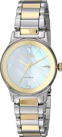 02fbe0c3fb7453 Amazon.com: Citizen Watches Women's EM0734-56D Axiom Two-Tone One ...