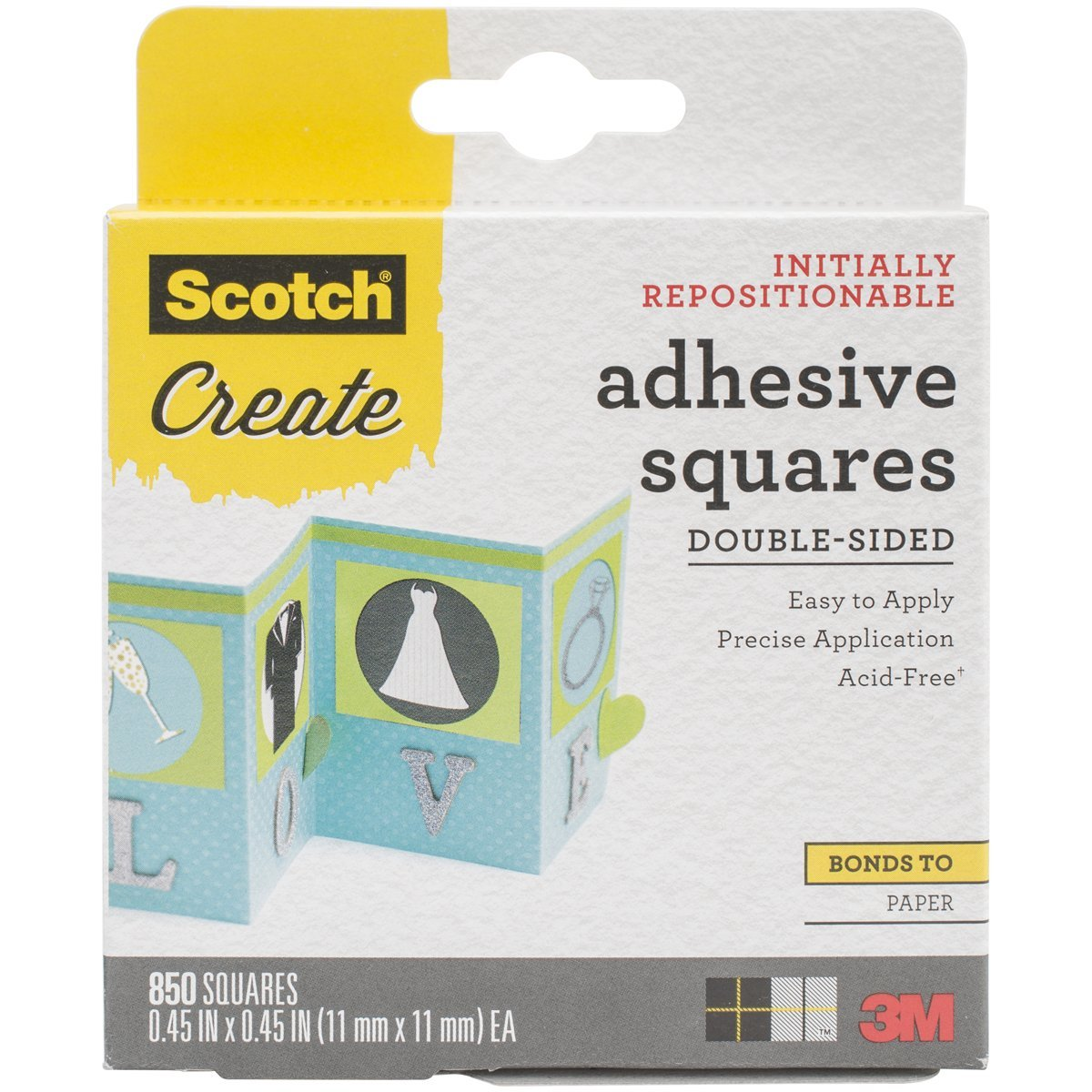3M 009-850 Scotch Photo Splits Double-Sided 850-Pack, 0.45-Inch-by-0.45-Inch 3M Office Products