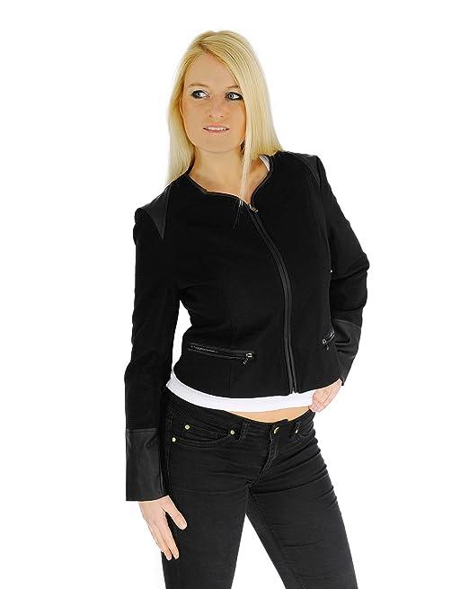 Schwarz Italy Figurbetonte Leder Jacke Im Design Damen rstdChQ