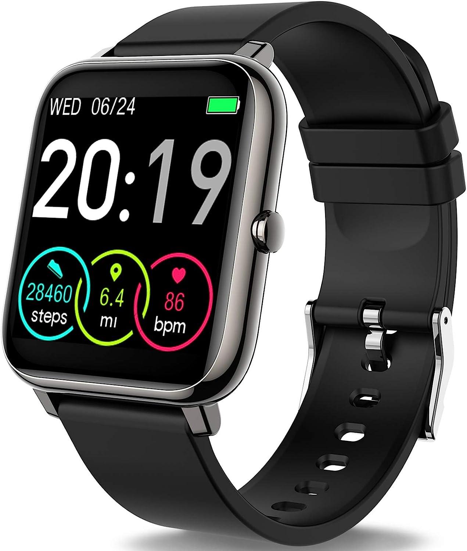 """Motast Smartwatch, Reloj Inteligente Pantalla TFT de 1,4"""", Pulsera Actividad con Monitor de Sueño Contador, Pulsómetro, Cronómetros, Calorías, Podómetro, Fotografía Remota, IP67 Impermeable"""