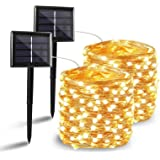 BHCLIGHT 2 Pack Each 72FT 200LED Solar String Lights, Upgraded Super Durable Solar Lights Outdoor, Waterproof Copper…