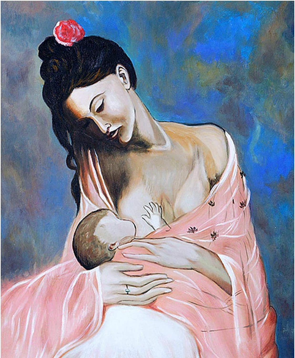 sjkkad Pablo Picasso Maternity Pregnancy Poster Wall Decoration Print for Home Wall Living Room Decor -20x28 in No Frame