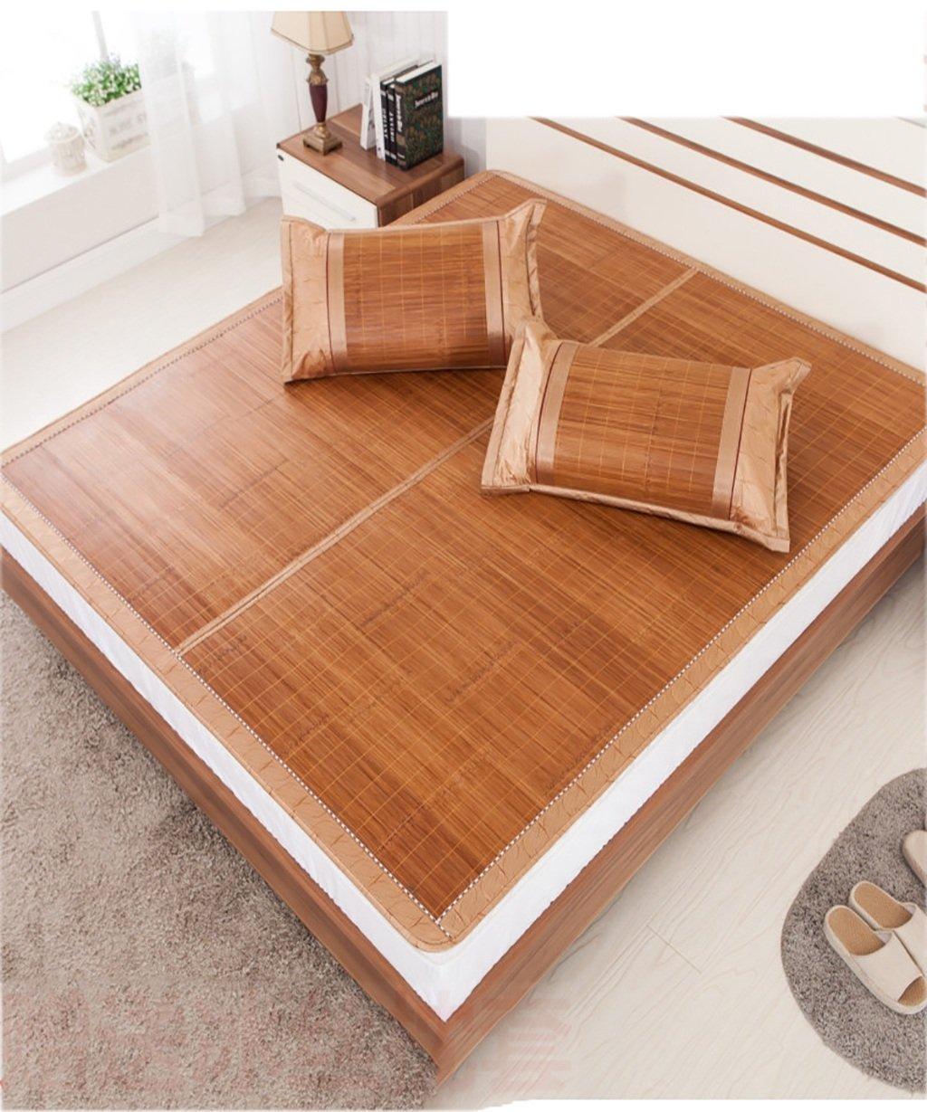 WENZHE Matratzen Strohmatte Teppiche Bambus Sommer Schlafmatten Haushalt Atmungsaktiv Faltbar Matten (Farbe : A, größe : 1.8  2.2m)