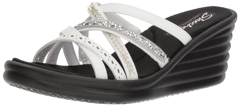 Skechers Cali Women's Rumbler Wave-New Lassie Slide Sandal B0755W5CZZ 11 M US|White