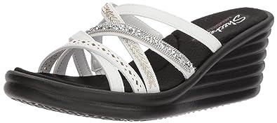 7ebe1a4b36e4 Skechers Women s 31777 Open Toe Sandals  Amazon.co.uk  Shoes   Bags