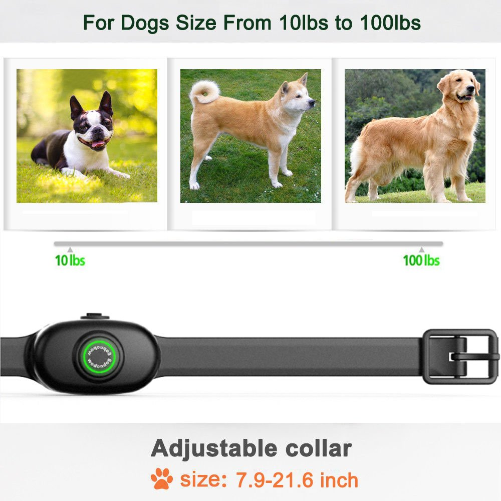 Anti Bark Collar Dog Training - Rechargeable Dog Stop Barking Devices for Small Medium Large Dogs with Beep Vibration Harmless Shock, No Barking Control, Five Sensitivity levels, Safe Pet Waterproof