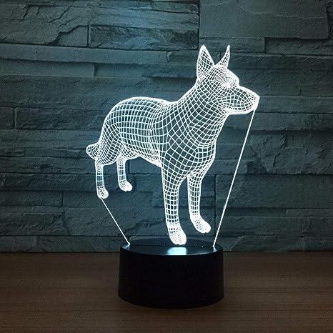 Doberman Pinscher Night Lights 7 Colores Cambiantes 3D LED Novedad ...