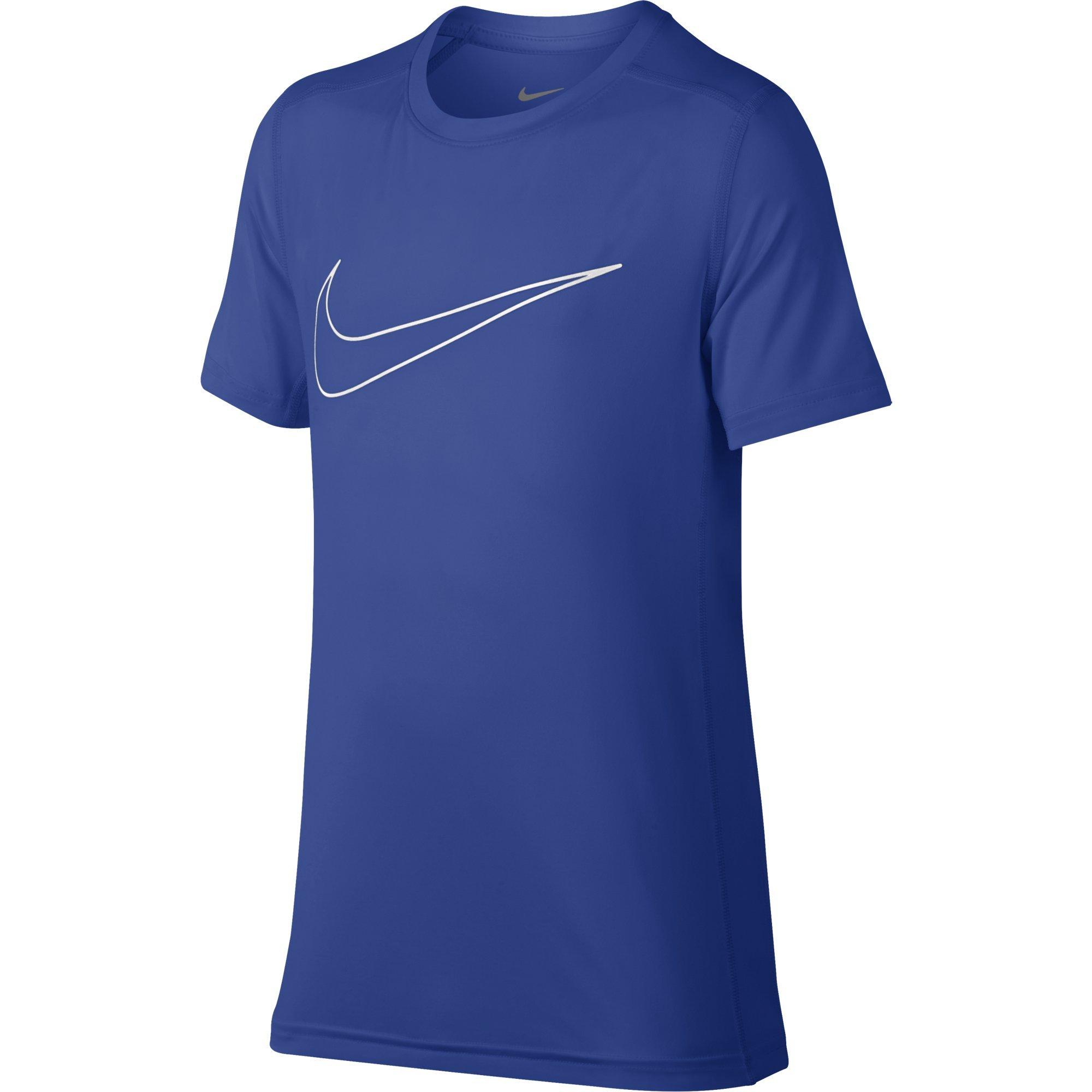 NIKE Boys' Short-Sleeve Training Shirt, Game Royal, Small