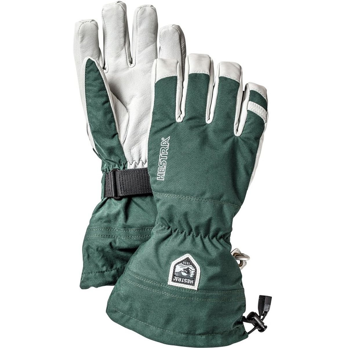 Hestra Heli Ski Glove, Bottle Green, 11 by Hestra