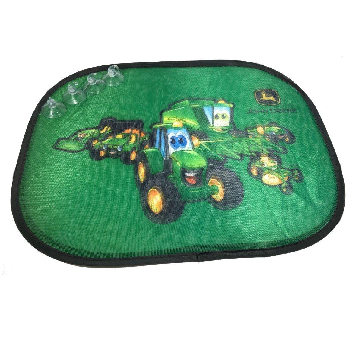 JOHN DEERE Kinder Auto-Sonnenschutz Set Sichtschutz Sonnenblende 2 St/ück