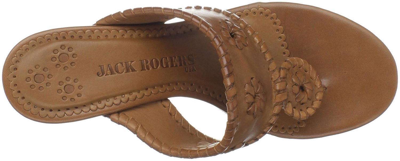 057417a88d Amazon.com | Jack Rogers Women's Maggie Kitten Heel Thong Sandal, Cognac,  6.5 M US | Flip-Flops