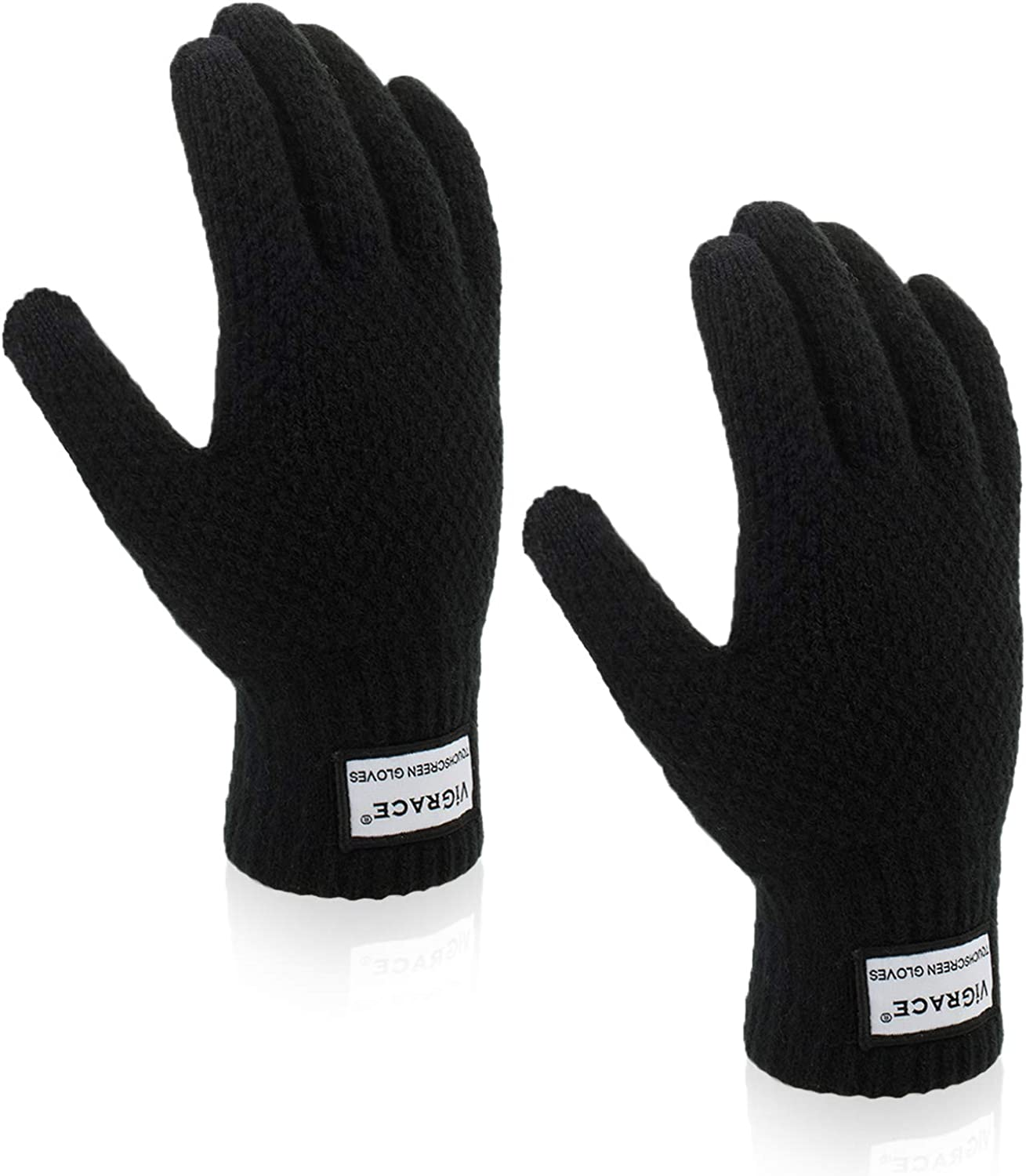 Men Women Winter Warm Knitted Gloves Windproof Anti-slip Thermal Touch Screen US