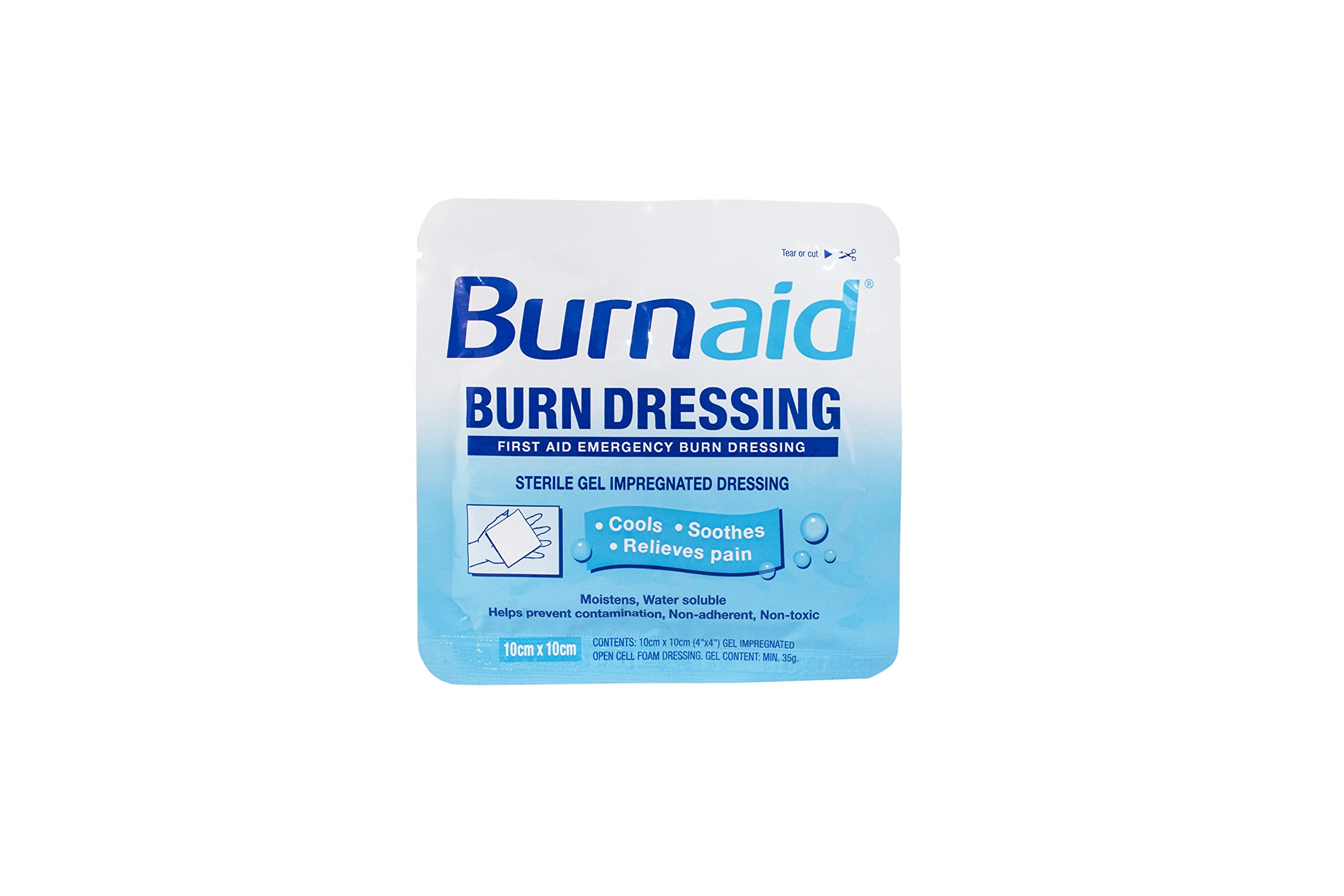 Dukal BD10 Burn Aid Dressing, Sterile, 4'' x 4'' (Pack of 240)
