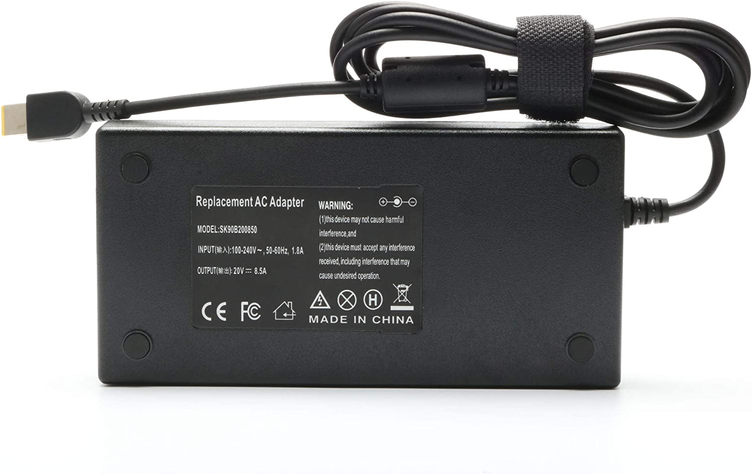 New 170W Power Adapter Charger Replacement for Lenovo Thinkpad W540 W541 P50 P51 P52 Legion Y520 Y530 Y720 Y5000 Y7000 Y7000P 4X20E50574 ADL170NLC2A Laptop