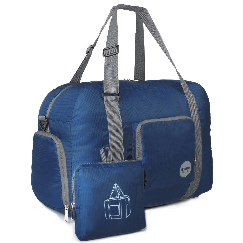WANDF 85L Foldable Travel Duffel Bag Luggage Sports Gym Water Resistant Nylon (Gray2)