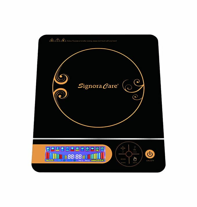 SignoraCare 2000 Watts Induction Cooker with Touch Led Panel Induction Cooktops at amazon