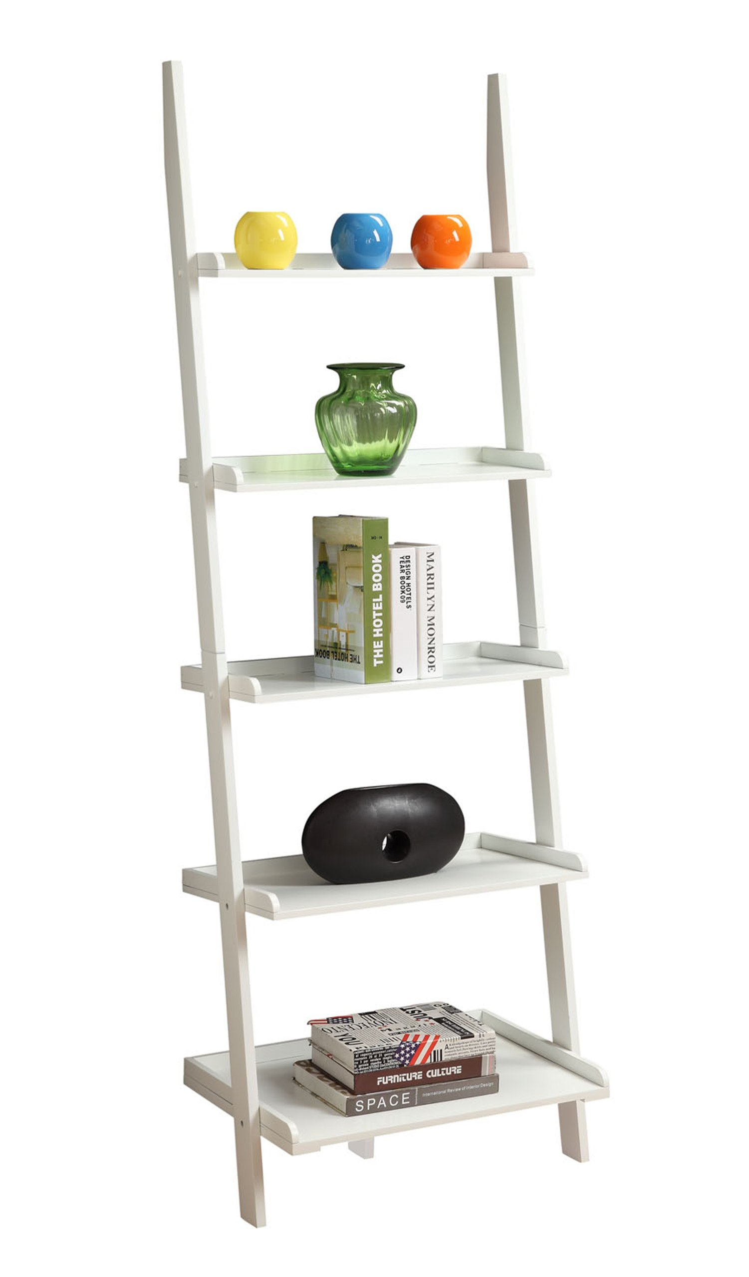 Convenience Concepts French Country Bookshelf Ladder, White by Convenience Concepts (Image #2)