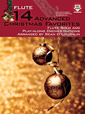 amazon 14 advanced christmas favorites flute solo and play along