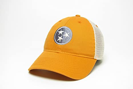 18c2677424f Amazon.com   Tennessee Tri-star Trucker Style Hat Cap - Orange with ...