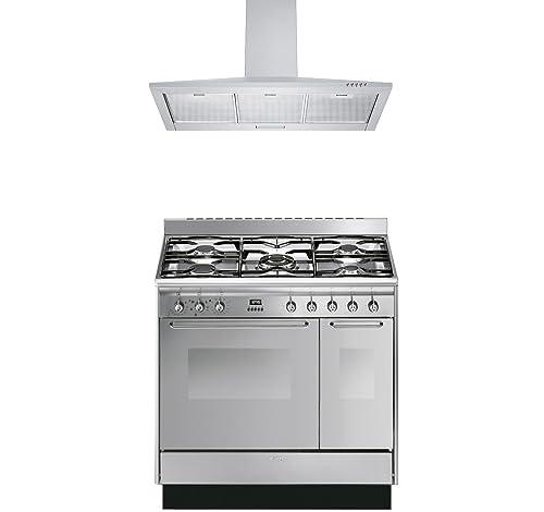 Smeg Range Cooker with Cookology Cooker Hood Pack - CC92MX9 Cucina ...