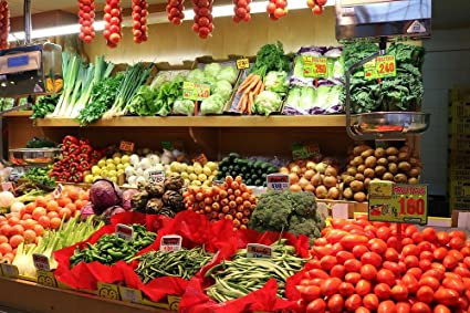 Amazon.com: Laminated 36x24 inches Poster: Vegetables Market ...