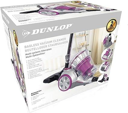 Dunlop 871125210167 Aspirateur tra/îneau sans Sac Argent/é//Rose