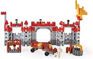 Hape Polym Medieval Castle | 310Piece Building Brick Castle Toy Set with Figurines & Accessories