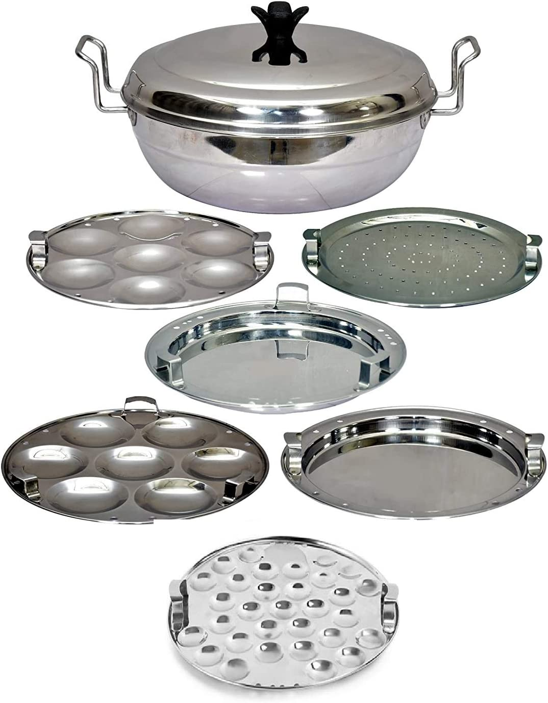 Sandwitch Bottom IDLY Cooker IDLY Maker Multi KADAI Multi KADHAI IDLI Cooker IDLI Maker 5 IN1