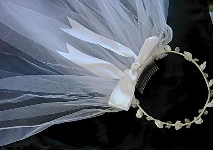 Amazon Com Pampered Darlings Girl S First Communion Tiara Wreath