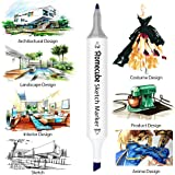 60 Colors Permanent Art Markers, Homecube Dual Tip