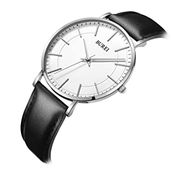 of watches mvmt touch large sales leather watch white black face