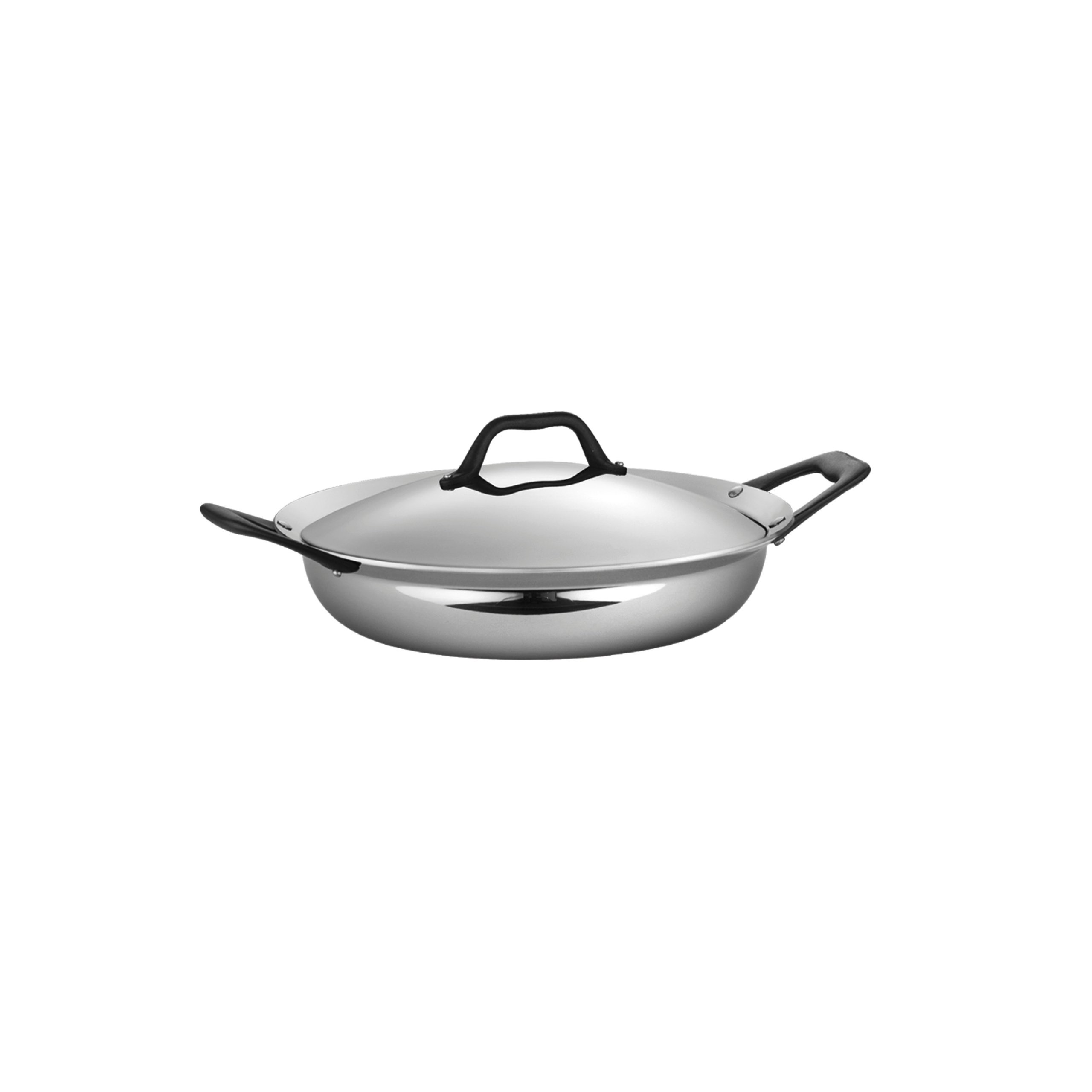 Tramontina Limited Editions Barazzoni 3 Quart Stainless Steel Covered Tri-Ply Clad Everyday Pan by Tramontina