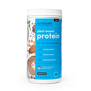 NutriBullet Superfood Essential Plant-Based Protein, 30 Serving Tub Chocolate, 40.2123 Ounce