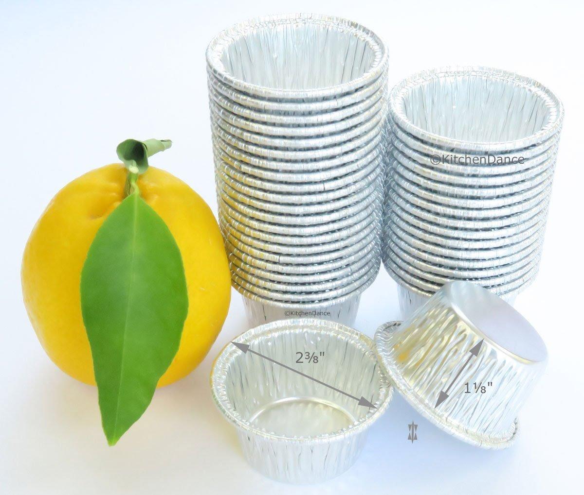 Disposable Aluminum Individual 2 Oz Foil Cups-individual Dessert Cup-ramekins. #S220 (50)