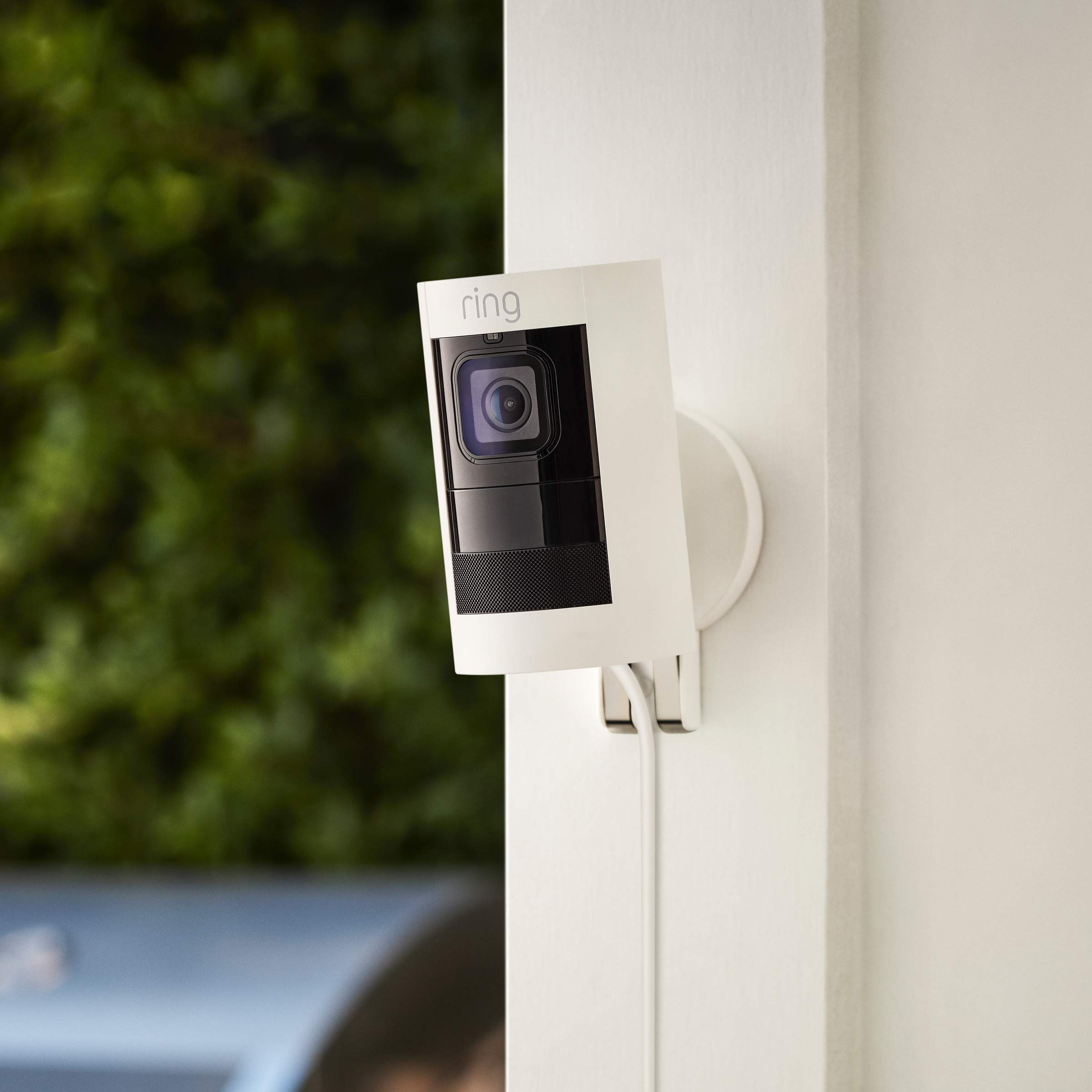 Ring Stick Up Cam Wired HD Security Camera with Two-Way Talk, Night Vision, White, Works with Alexa by Ring (Image #5)