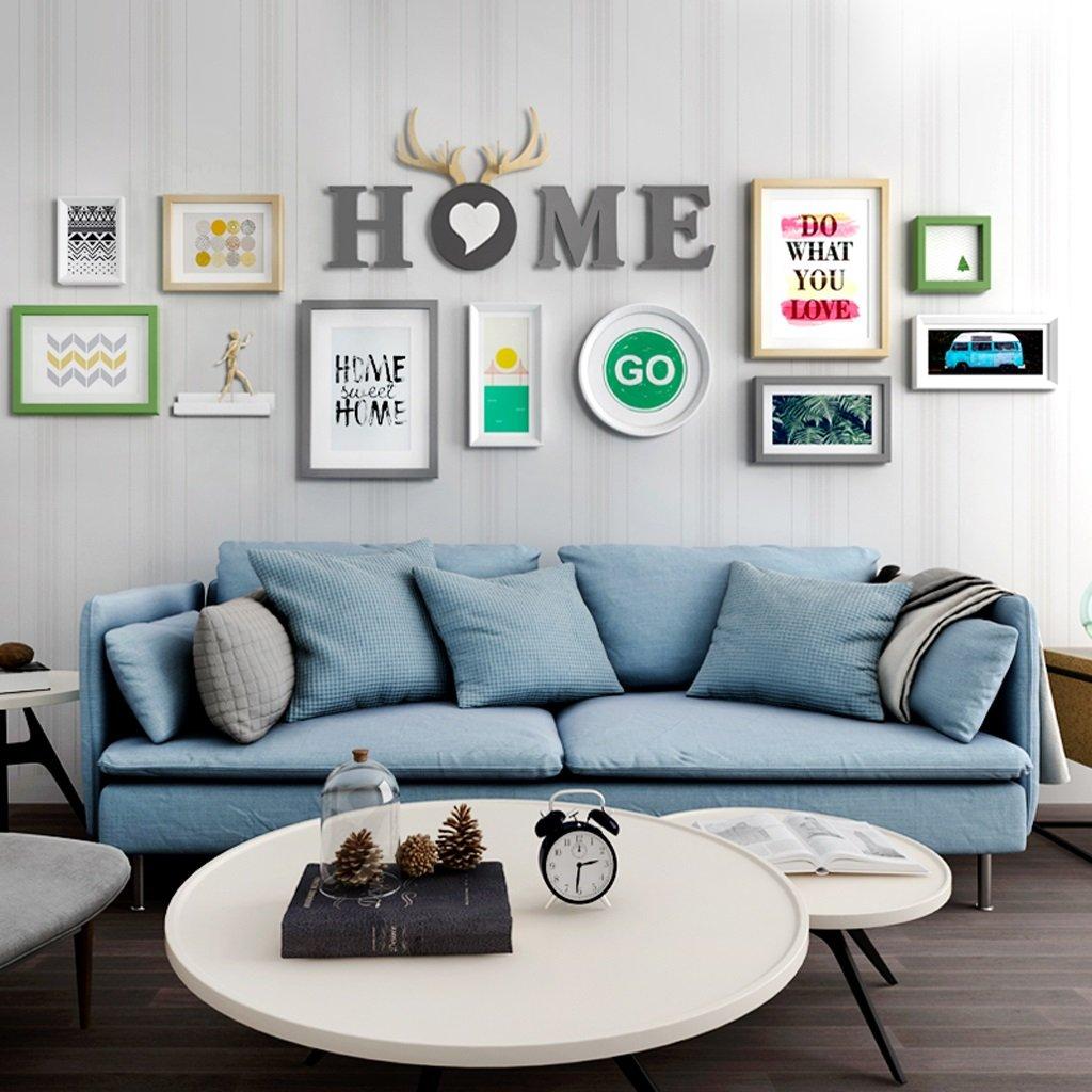 LQQGXL Simple modern photo wall combination portfolio photo photo photo living room bedroom Photo frame ( Color : #1 )