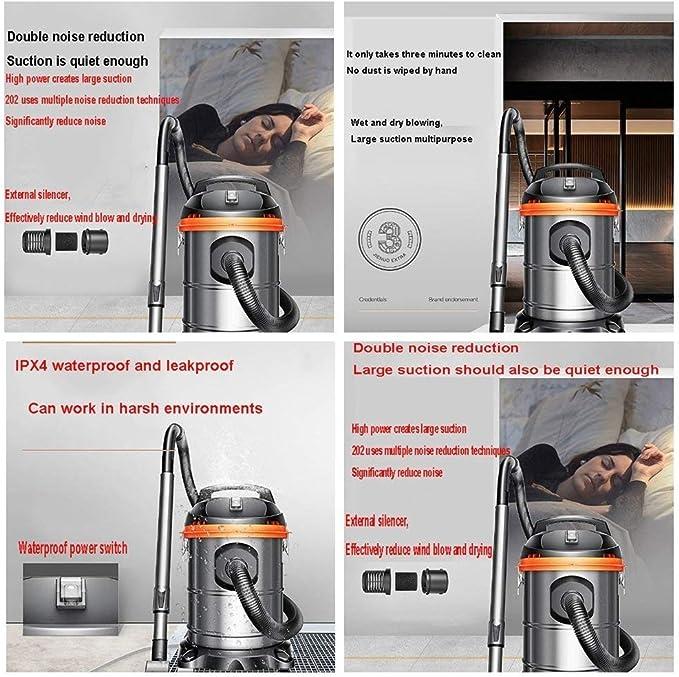 Aspiradora húmeda y seca Muda potente, función 3 en 1, compacta de 15L / 1400W con tecnología de boya segura, soplado en seco / húmedo para suciedad y agua o limpieza de