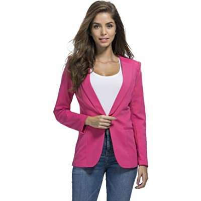 JHVYF Womens Casual Basic Work Office Cardigan Tuxedo Summer Blazer Open Front Boyfriend Jacket at Women's Clothing store