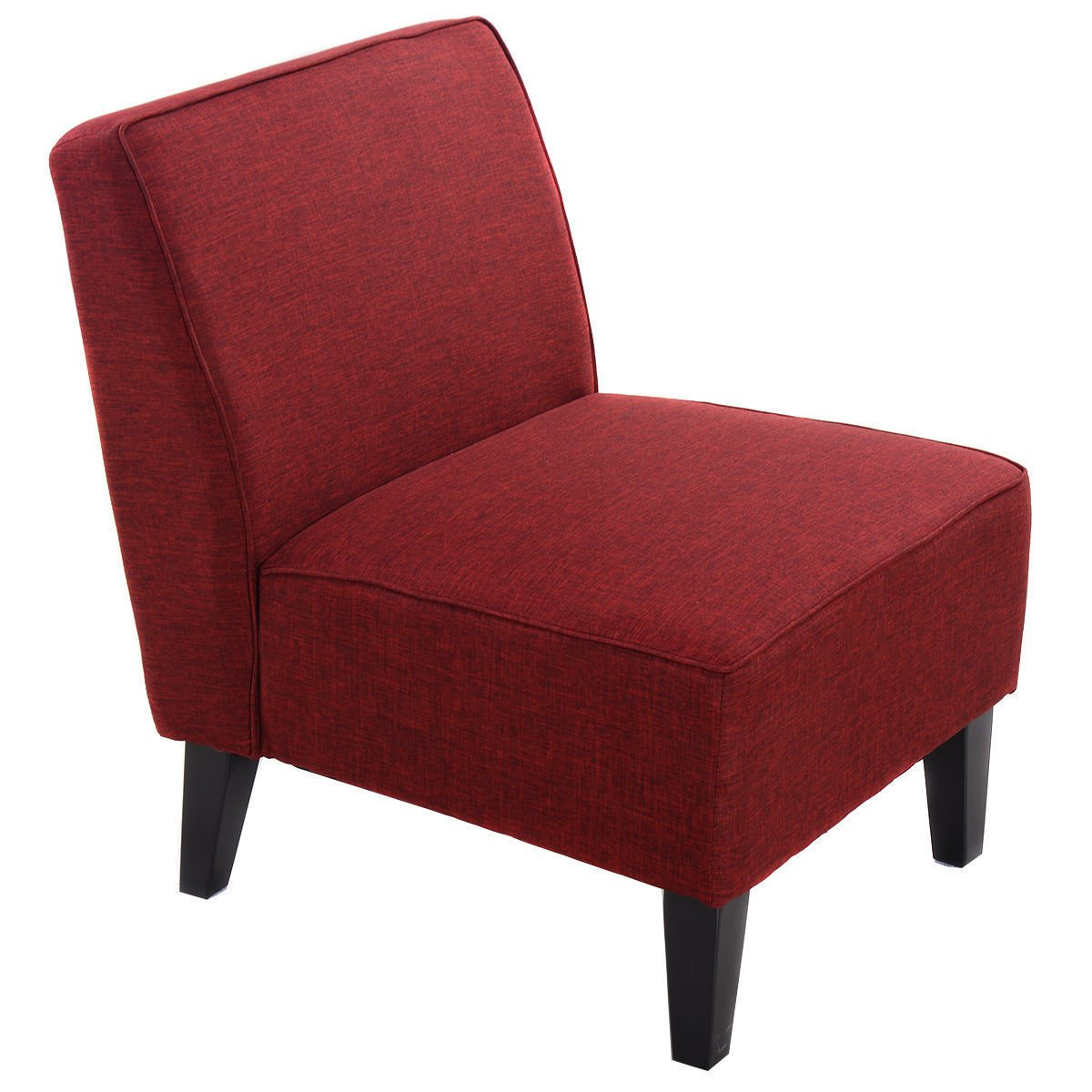 New Red Accent Chair Armless Contemporary Dining Chair Living Room Furniture
