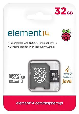 Raspberry Pi Official NOOBS Micro SD Card (32GB)