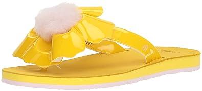 Ugg Damenschuhe Zehentrenner Poppy 1090489 Lemon Yellow, Größe:41 EU