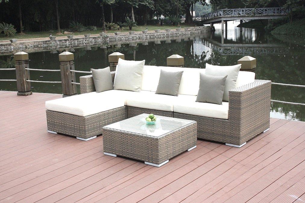 Talfa Polyrattan Gartenmöbel Lounge Mesa Grau Günstig