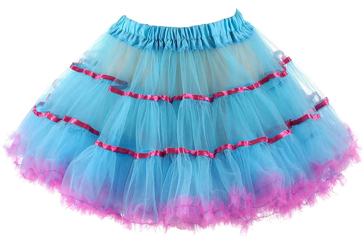 Danadress Women A-Line Multicolor Short Petticoat Crinoline Skirt Slips DANA020-P02