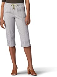 Lee Womens Flex-to-go Relaxed Fit Pull-on Utility Capri Pant Pants