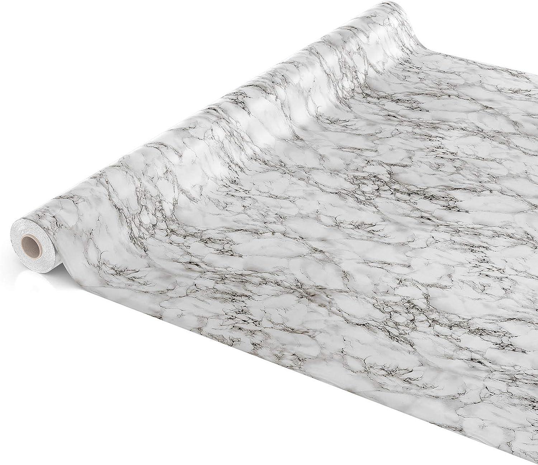 Effet marbre Toile cir/ée. Rund 100cm Schnittkante Nappe ANRO en toile cir/ée lavable couleur marbre gris