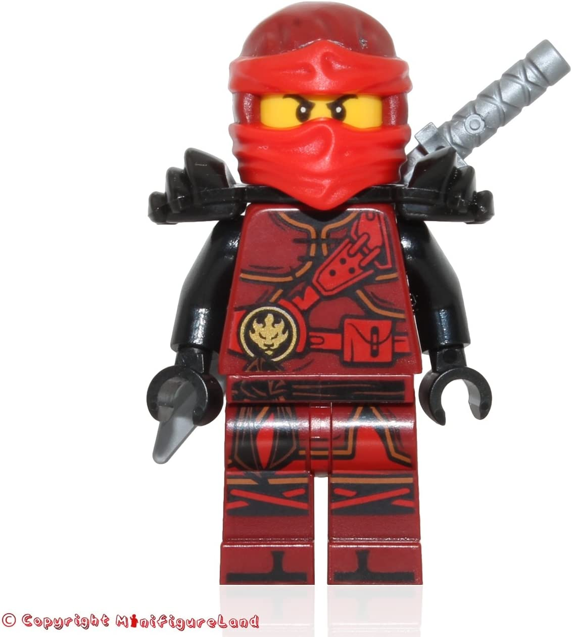 LEGO NinjaGo Minifigure - Kai (Hands of Time, w/ Black Armor) 70627