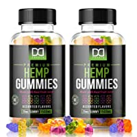 Hemp Oil Gummies for Pain Stress Relief, Anxiety, Relaxing Restful Sleep Immune Support for Adults Kids - Natural Calm Premium Hemp Extract Mood Gummy Bear Edibles Candy (120 Gummies | 1500mg)